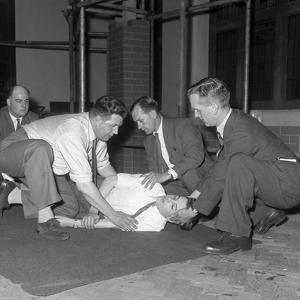 Recovery Position, East Midland Gas Board Training, 1961 by Michael Walters