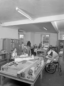 Retraining at a Paraplegic Centre in Pontefract, West Yorkshire, 1960 by Michael Walters
