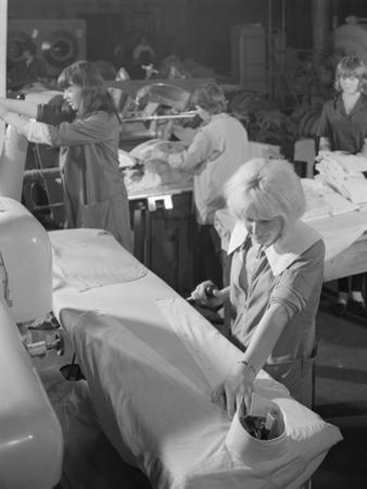Shirt Pressing at a Commercial Laundry in Scunthorpe, Lincolnshire, 1965 by Michael Walters