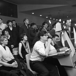 Steelworks Social Evening at a Bowling Alley, Sheffield, South Yorkshire, 1964 by Michael Walters