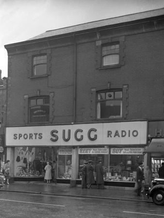 Sugg Sports and Radio, High Street, Scunthorpe, Lincolnshire, 1960 by Michael Walters