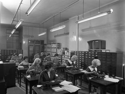Tabulating Machines in the Punch Room in a Sheffield Factory Office, 1963 by Michael Walters