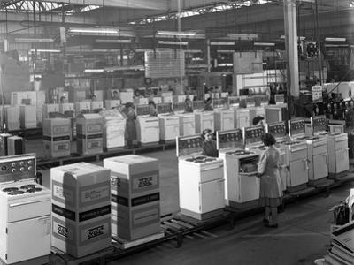 The Cooker Assembly Line at the Gec Factory, Swinton, South Yorkshire, 1963 by Michael Walters