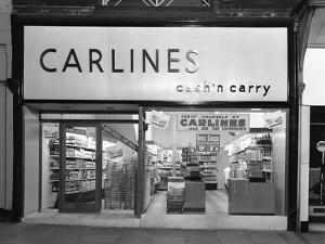 The Exterior of Carlines Self Service Store, Mexborough, South Yorkshire, 1960 by Michael Walters