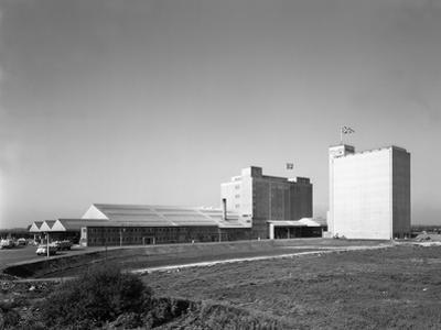 The Exterior of Spillers Animal Foods Mill, Gainsborough, Lincolnshire, 1962 by Michael Walters