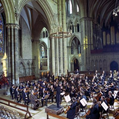 The Halle Orchestra in a Performance at Lincoln Cathedral, Lincolnshire, 1973 by Michael Walters
