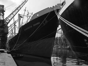 The Manchester Renown in Dock on the Manchester Ship Canal, 1964 by Michael Walters