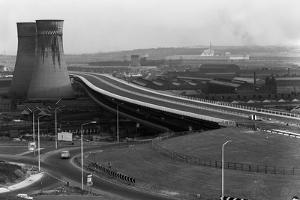 Tinsley Viaduct on the M1 after Completion, Sheffield, South Yorkshire, 1968 by Michael Walters