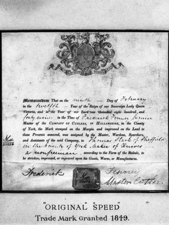 Trademark Certificate, 1849 (1963) by Michael Walters