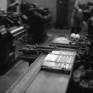 Type Being Set at the White Rose Press, Mexborough, South Yorkshire, 1968 by Michael Walters