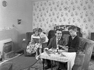 Typical Working Class Living Room Scene with Family, 11 July 1962 by Michael Walters