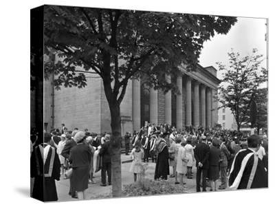 University Graduates Outside Sheffield City Hall, South Yorkshire, 1967