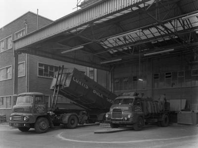Unloading and Loading Lorries, Spillers Animal Foods, Gainsborough, Lincolnshire, 1961 by Michael Walters