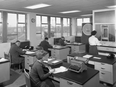 Weighbridge Office Scene, Spillers Foods, Gainsborough, Lincolnshire, 1961 by Michael Walters
