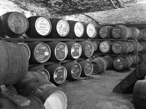 Whisky in Barrels at a Bonded Warehouse, Sheffield, South Yorkshire, 1960 by Michael Walters
