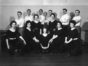 Wombwell Operatic Society Group Photograph, South Yorkshire, 1961 by Michael Walters