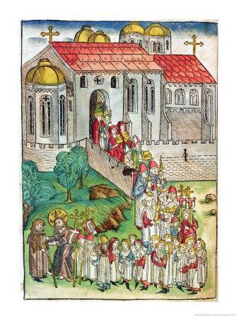 Pilgrim of Santiago De Compostela and Procession, 1491