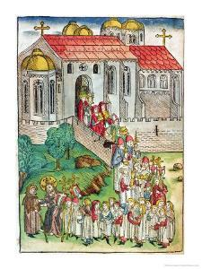 Pilgrim of Santiago De Compostela and Procession, 1491 by Michael Wolgemut Or Wolgemuth