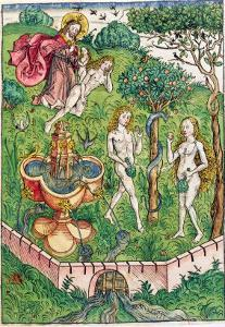 The Creation and the Temptation of Adam and Eve, c.1491 by Michael Wolgemut Or Wolgemuth