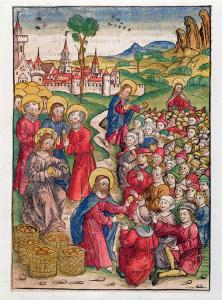 The Multiplication of Loaves and Fishes, 1491 by Michael Wolgemut Or Wolgemuth