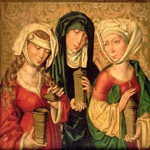 The Three Marys on Gold Ground Panels by Michael Wolgemut Or Wolgemuth