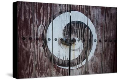 Yin and Yang Sign on a Door, Fortress of Suwon, UNESCO World Heritage Site, South Korea, Asia
