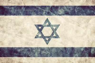 Israel Grunge Flag. Vintage, Retro Style. High Resolution, Hd Quality. Item from My Grunge Flags Co by Michal Bednarek