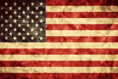 USA Grunge Flag. Vintage, Retro Style. High Resolution, Hd Quality. Item from My Grunge Flags Colle by Michal Bednarek