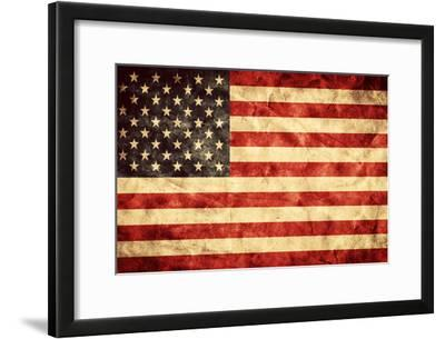 USA Grunge Flag. Vintage, Retro Style. High Resolution, Hd Quality. Item from My Grunge Flags Colle