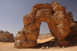 Forzhaga Natural Arch in Akakus Mountains, Sahara Desert, Libya, North Africa, Africa by Michal Szafarczyk