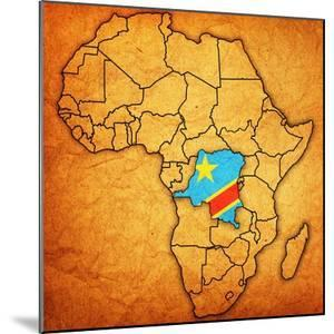 Democratic Republic of Congo on Actual Map of Africa by michal812