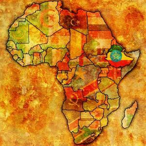 Ethiopia on Actual Map of Africa by michal812