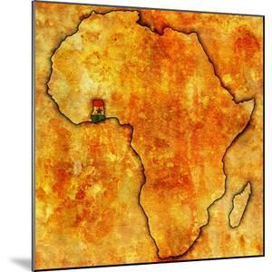Ghana on Actual Map of Africa by michal812