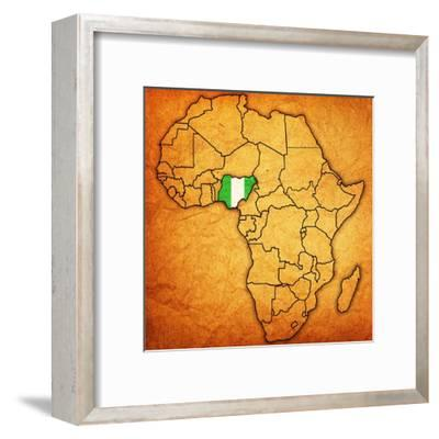 Nigeria on Actual Map of Africa