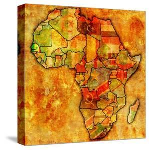 Beautiful Maps of Africa canvas artwork for sale, Posters and Prints ...