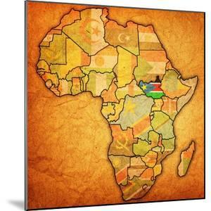 South Sudan on Actual Map of Africa by michal812