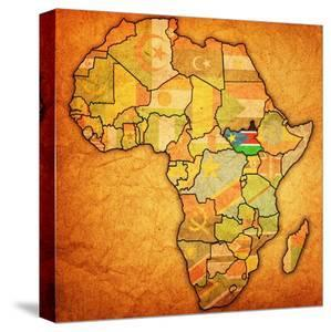 Beautiful Maps of Africa canvas artwork for sale, Posters ...