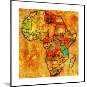 Tanzania on Actual Map of Africa by michal812