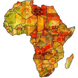 Togo on Actual Map of Africa by michal812