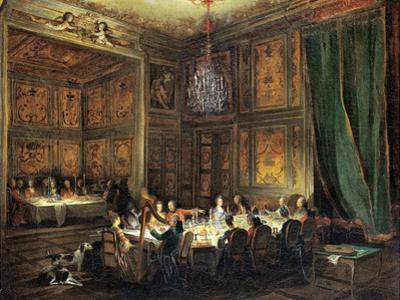 Dinner of the Prince of Conti (1717-76) in the Temple, 1766 by Michel Barth?l?my Ollivier