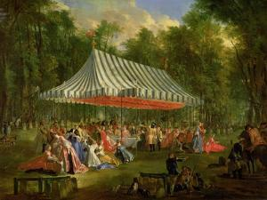 Festival Given by the Prince of Conti to the Prince of Brunswick-Lunebourg at L'Isle-Adam, 1766 by Michel Barthélémy Ollivier