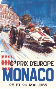 Monaco Grand Prix Europe (Gd Prix D'Europe) - Formula One F1 by Michel Beligond