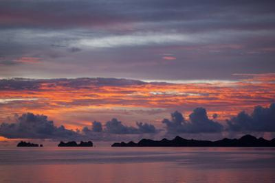 Beautiful Cloud Formations at Sunset in Republic of Palau, Micronesia by Michel Benoy Westmorland