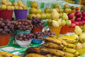 Local Fruit and Vegetables at a Market in San Juan Chamula, Mexico by Michel Benoy Westmorland