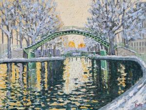 Canal Saint Martin en Hiver, 2003 by Michel Bultet