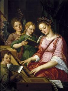 Saint Cecilia by Michel Coxcie