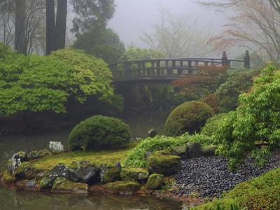 Fog, Portland Japanese Garden, Portland, USA, Oregon
