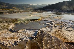 Mammoth Hot Springs, Yellowstone National Park, Wyoming, USA by Michel Hersen