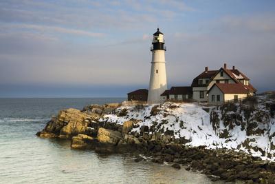 Portland Head Light, Cape Elizabeth, Casco Bay, Maine, USA