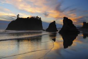 Twilight, Ruby Beach, Olympic National Park, Washington, USA by Michel Hersen
